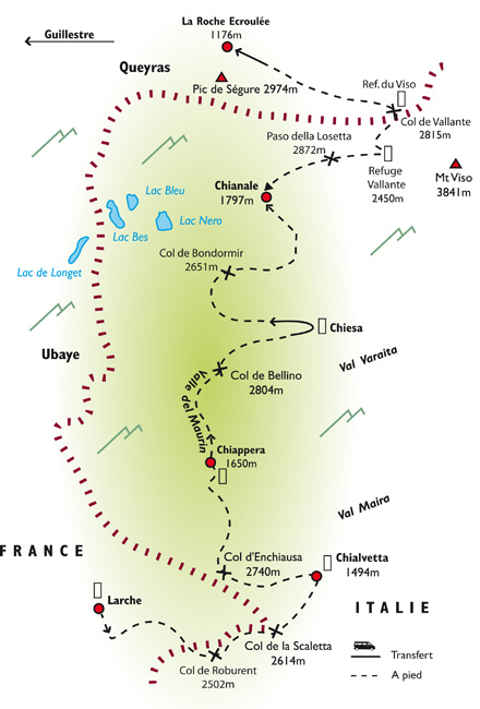 Parcours trekking Piémont Italien