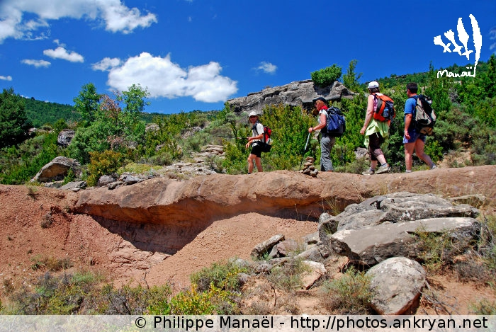 Roche argileuse, Bentué de Nocito (Sierra de Guara, Espagne)