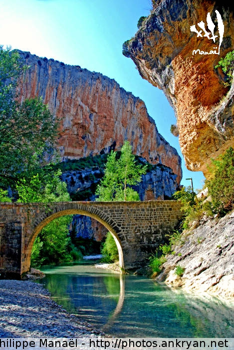 Pont romain de Villacantal, Alquézar (Sierra de Guara, Espagne)