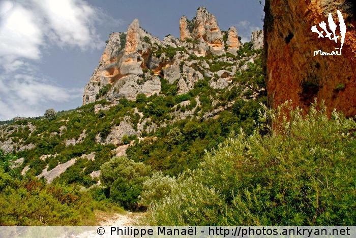 Pitons rocheux, Mascún inférieur (Sierra de Guara, Espagne)