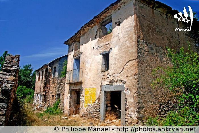Ruines du village de Otin, canyon du Mascun (Sierra de Guara, Espagne)