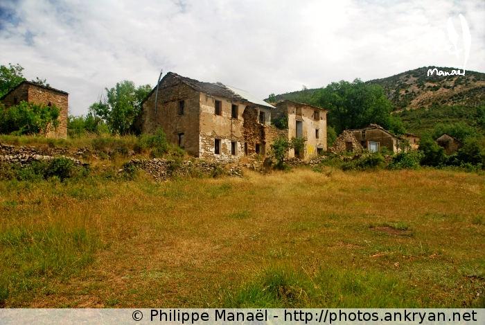 Village abandonnée d'Otín, canyon du Mascún (Sierra de Guara, Espagne)