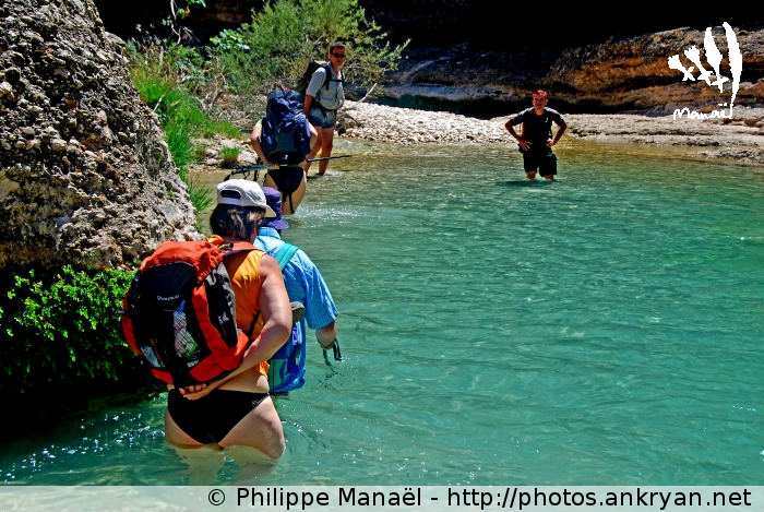 Traversée aquatique Rio Alcanadre, Canyon de la Peonera (Sierra de Guara, Espagne)