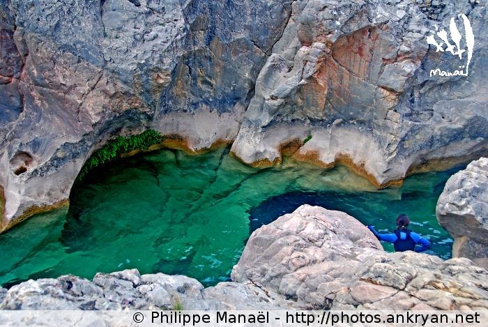 Vasque, Estrechos de Tamara, Canyon de la Peonera (Sierra de Guara, Espagne)