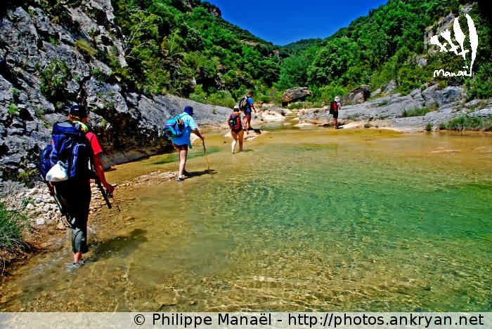 Randonnée aquatique sur le rio Guatizalema (trekking Sierra de Guara, au pays des canyons). Espagne, Aragon, Huesca
