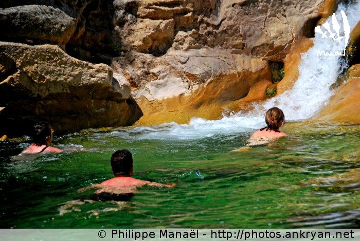 Vasque du rio Guatizalema (Sierra de Guara, Espagne)