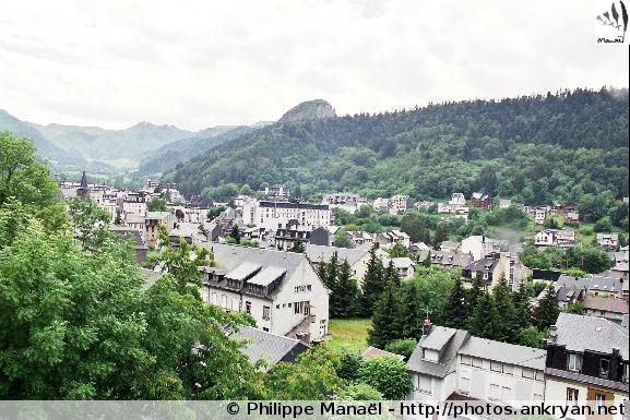 La Bourboule - Station du Mont-Dore (trekking Auvergne, au pays des volcans). France, Auvergne, Puy-de-Dôme