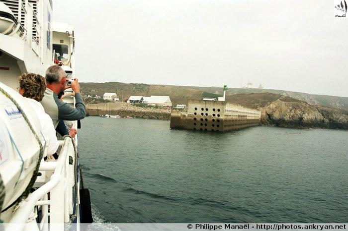 Embarcadère du Stiff, île d'Ouessant (Bretagne, Finistère, France)