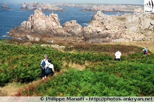 Tour de l'île d'Ouessant (trekking). France, Bretagne, Finistère