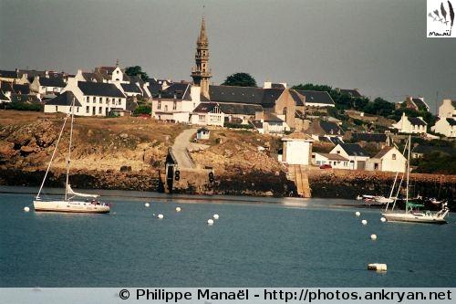 Bourg de Lampaul, île d'Ouessant (Bretagne, Finistère, France)