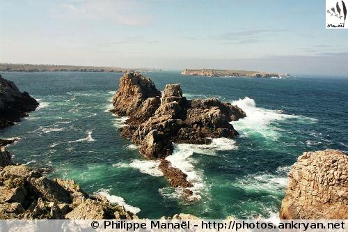 Pointe de Cadoran, mer d'Iroise - île d'Ouessant (Bretagne, France)