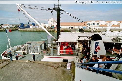 Débarquement à Port-Joinville (Ile d'Yeu, Vendée, France)