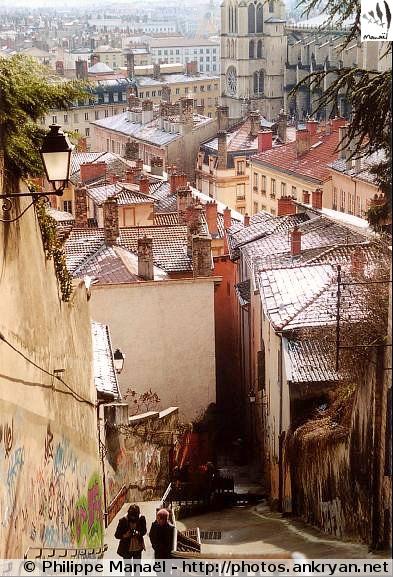 Montée des Chazeaux, Lyon (Rhônes-Alpes, France)