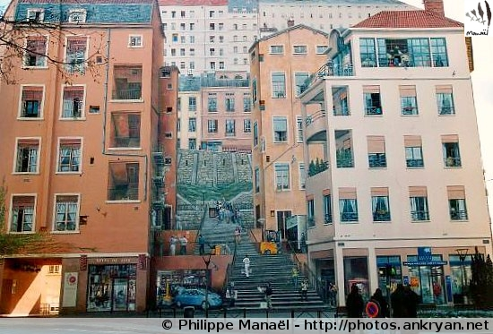 Mur peint des Canuts, Lyon (Rhônes-Alpes, France)