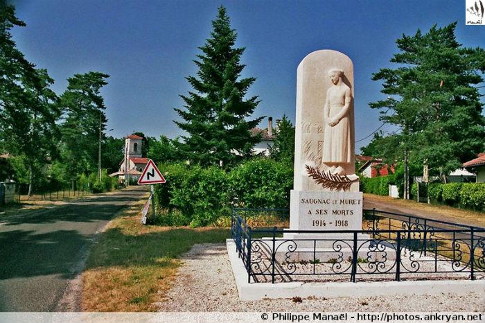 Monument aux morts, Saugnacq-et-Muret (Aquitaine, France)