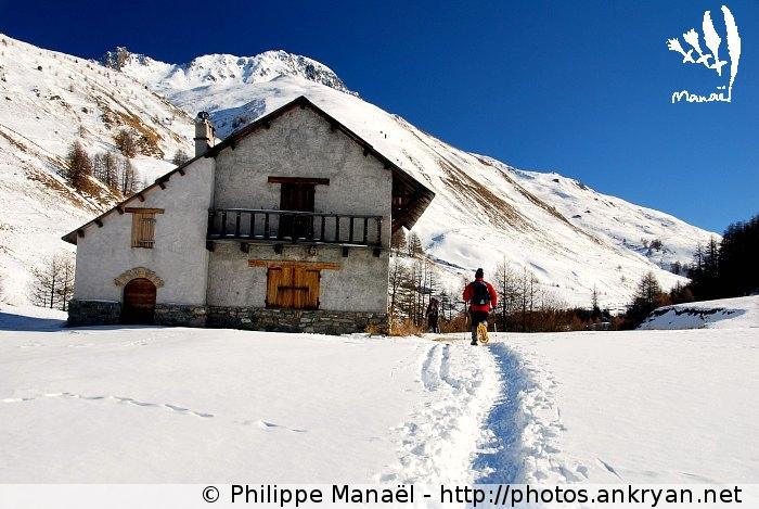 Chalet d'alpage de la Gardiole (massif du Queyras, Hautes-Alpes, France)