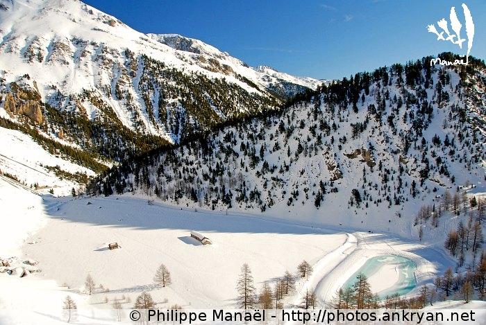 Ancien lac glaciaire du Pra Premier (massif du Queyras, Hautes-Alpes, France)