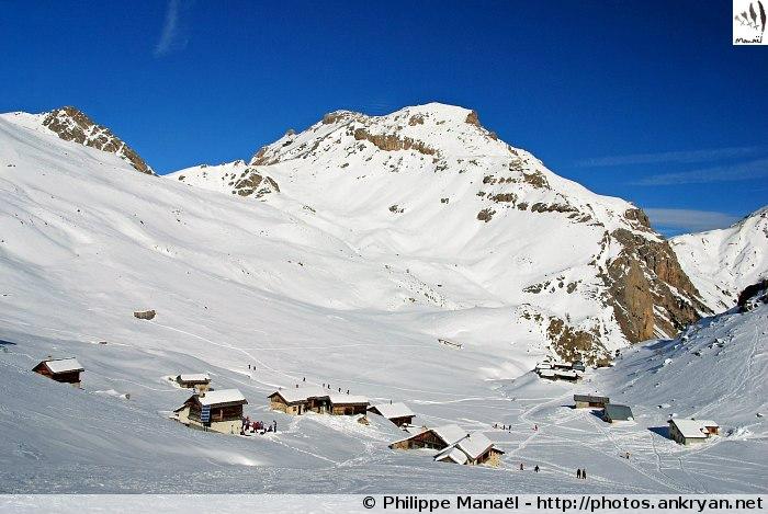 Nouvel an à Molines-en-Queyras (trekking). France, PACA, Hautes-Alpes