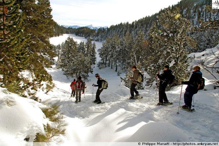 Descente sur le lac Estany Llarg (La Bollosa, Pyrénées-Orientales, France)