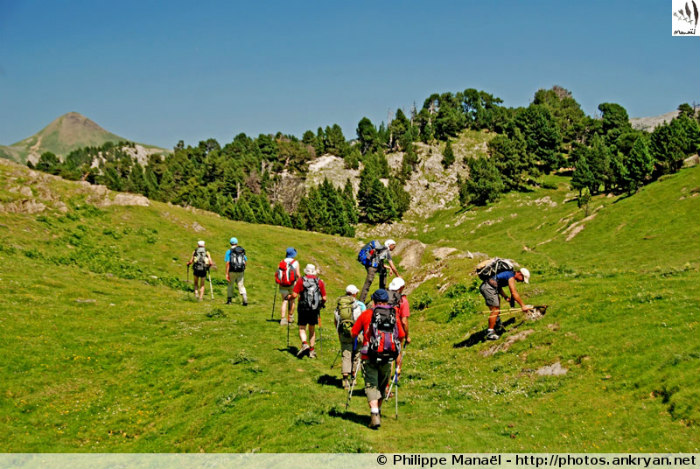 Traversée des Pyrénées par la HRP (trekking). France, Midi-Pyrénées