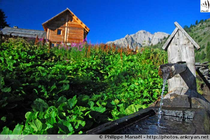 Fontaine du refuge Buffère (Névache, Hautes-Alpes, France)