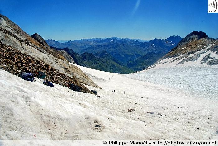 Glacier d'Ossoue depuis le sommet (Massif du Vignemale, Pyrénées, France)
