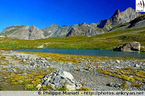 Lac du Col de la Vanoise (Massif de la Vanoise, Savoie, France)