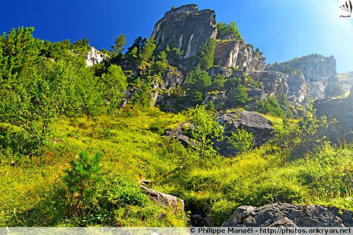 En bas du Pas de l'Âne (Savoie, France)