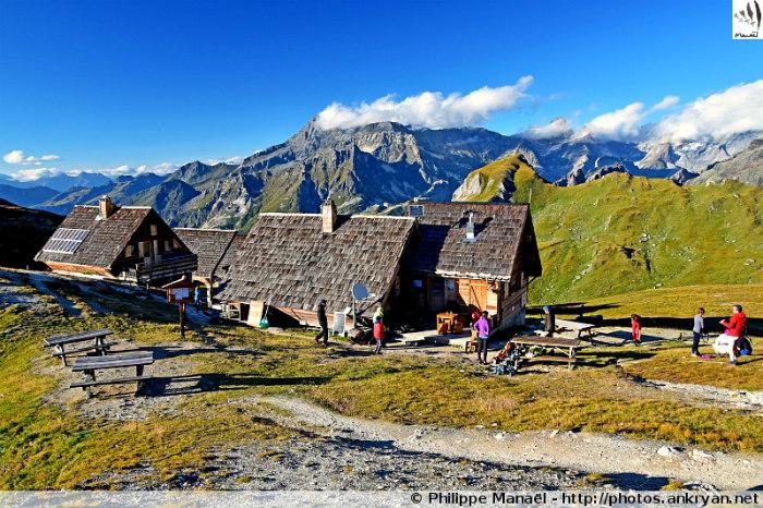 Pralognan-la-Vanoise - Pas de l'Âne - Refuge de la Valette (2590 m) (trekking Les Balcons de la Vanoise). France, Rhône-Alpes, Savoie