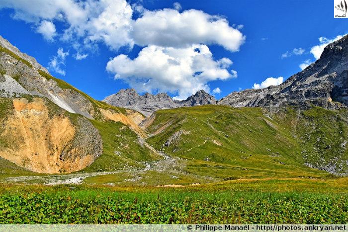 Panorama depuis le refuge du Saut (Savoie, France)