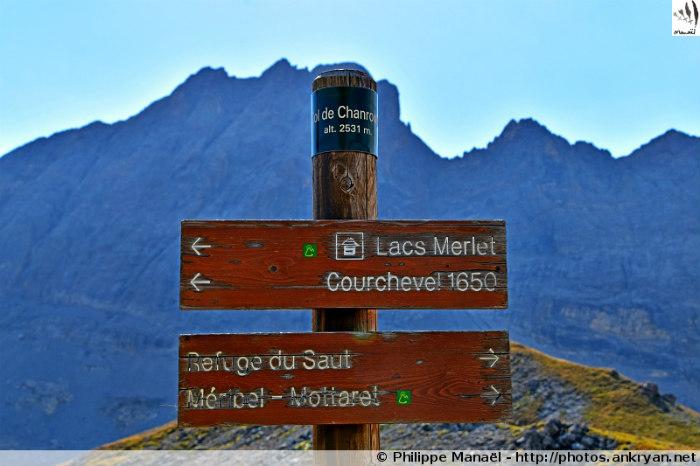 Panneau du col de Chanrouge (Massif de la Vanoise, Savoie, France)