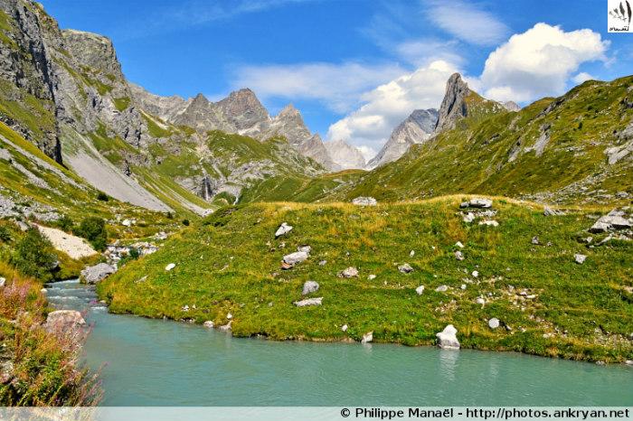 Vallon et torrent de la Glière, Les Barmettes (Parc de la Vanoise, Savoie, France)