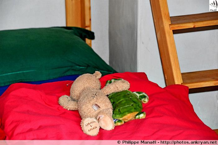 Duo solidaire déjà au lit, refuge Le Repoju, Les Prioux (Pralognan-la-Vanoise, Savoie, France)