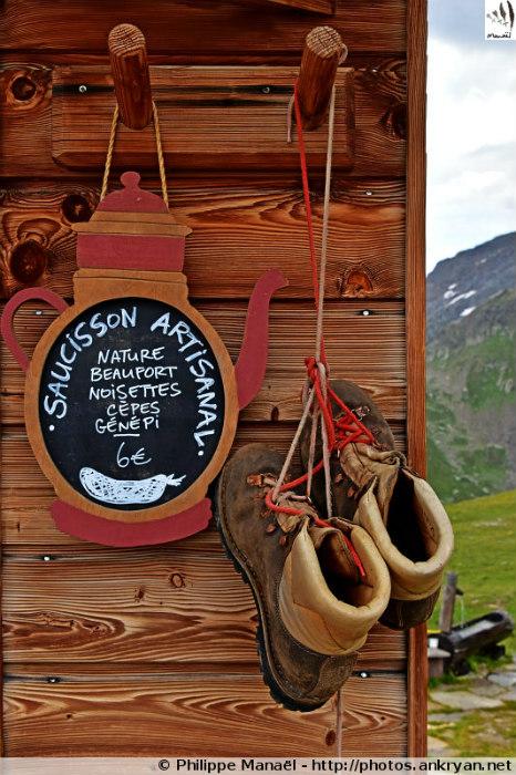 Saucisson artisanal au refuge de la Valette, Pralognan-la-Vanoise (Savoie, France)