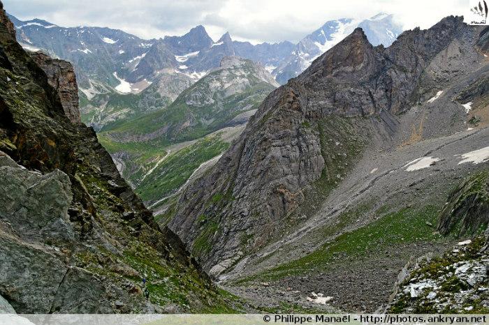 Cirque du Dard et la Grande Casse depuis le Col du Grand Marchet (Vanoise, Savoie, France)