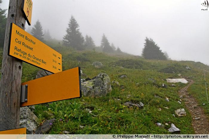 Panneau aux Barmettes, direction Mont Bochor (Vanoise, Savoie, France)