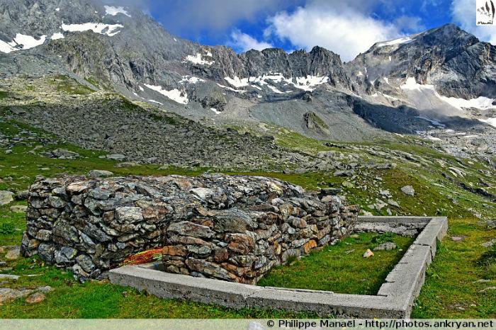 Glacier de la Vuzelle, cirque du Grand Bec (Vanoise, Savoie, France)