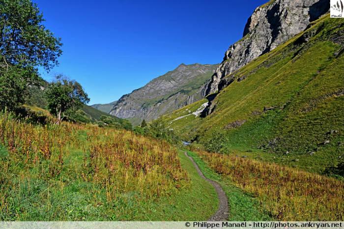 Sentier du Laisonnay (vallée de Champagny-le-Haut, Savoie, France)