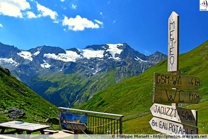 Glaciers et sommets depuis le refuge de Plaisance (Savoie, France)