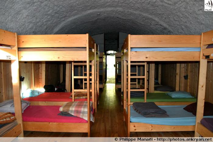 Dortoir du refuge d'Entre le Lac, Peisey-Nancroix (Vanoise, Savoie, France)