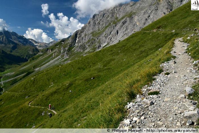 Sentier Le Sécheron, vallée de Chavière (Savoie, France)