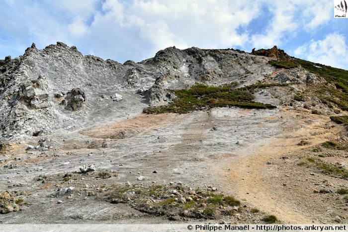 Formation de gypse, Petit Mont Blanc (Vanoise, Savoie, France)