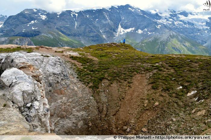 Entonnoir de dissolution, Petit Mont Blanc (Vanoise, Savoie, France)