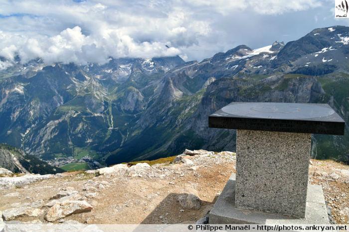Table d'orientation du Petit Mont Blanc (Vanoise, Savoie, France)