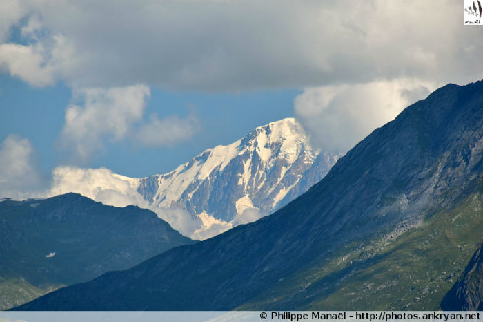 Mont Blanc depuis le vallon de Chavière (Savoie, France)