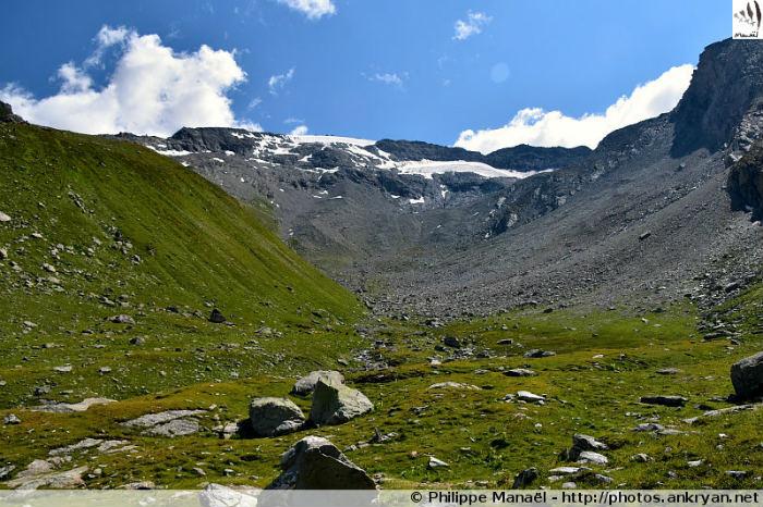 Vallon et glacier de Rosoire, massif de la Vanoise (Savoie, France)