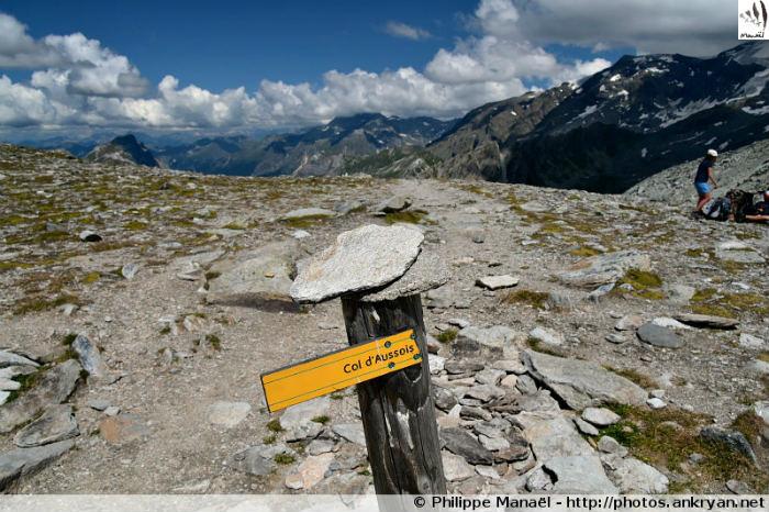 Panneau col d'Aussois, massif de la Vanoise (Savoie, France)