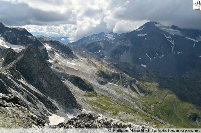 Pointe de l'Observatoire : col de Chavière, massif de la Vanoise (Savoie, France)