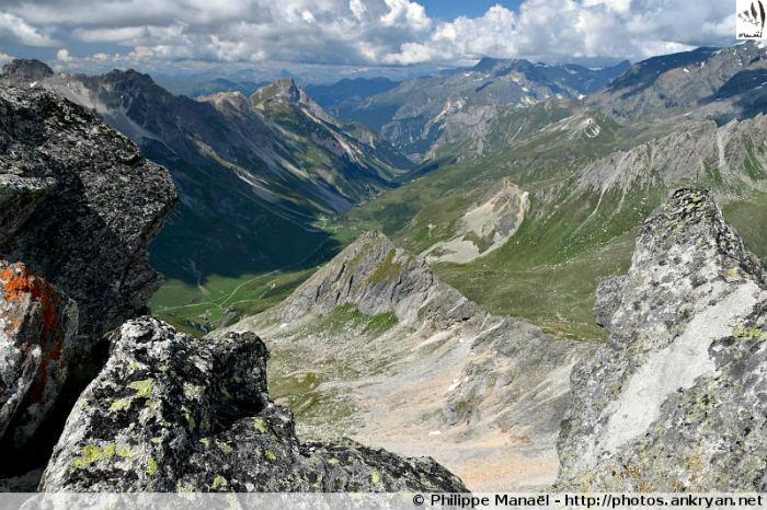 Pointe de l'Observatoire : vallée de Chavière, massif de la Vanoise (Savoie, France)