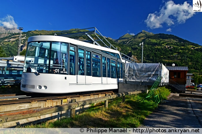 Funiculaire Les Arcs' express, Bourg-Saint-Maurice (Vanoise, Savoie, France)